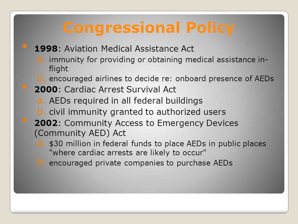 Congressional Policy 1998: Aviation Medical Assistance Act