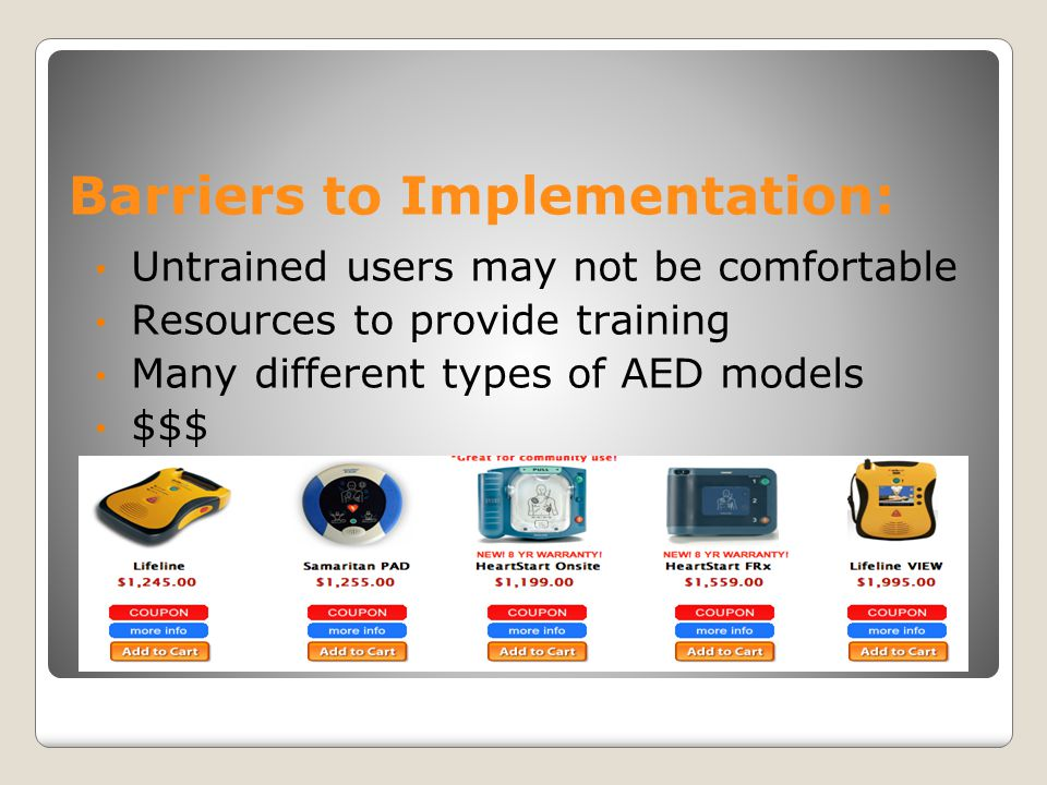 Barriers to Implementation: