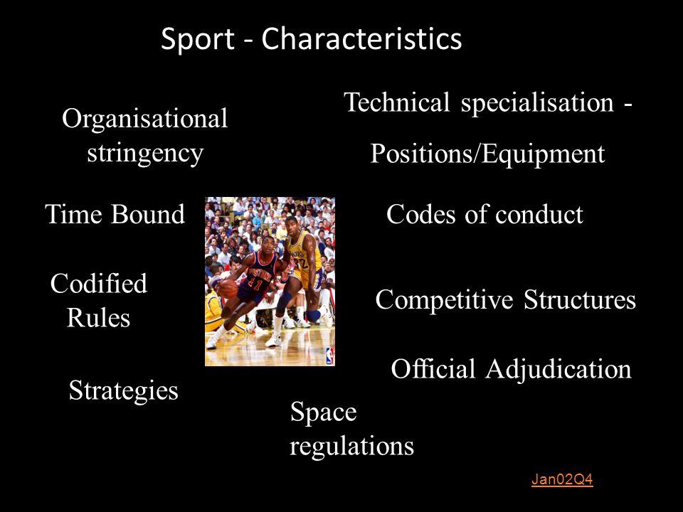 Sport - Characteristics