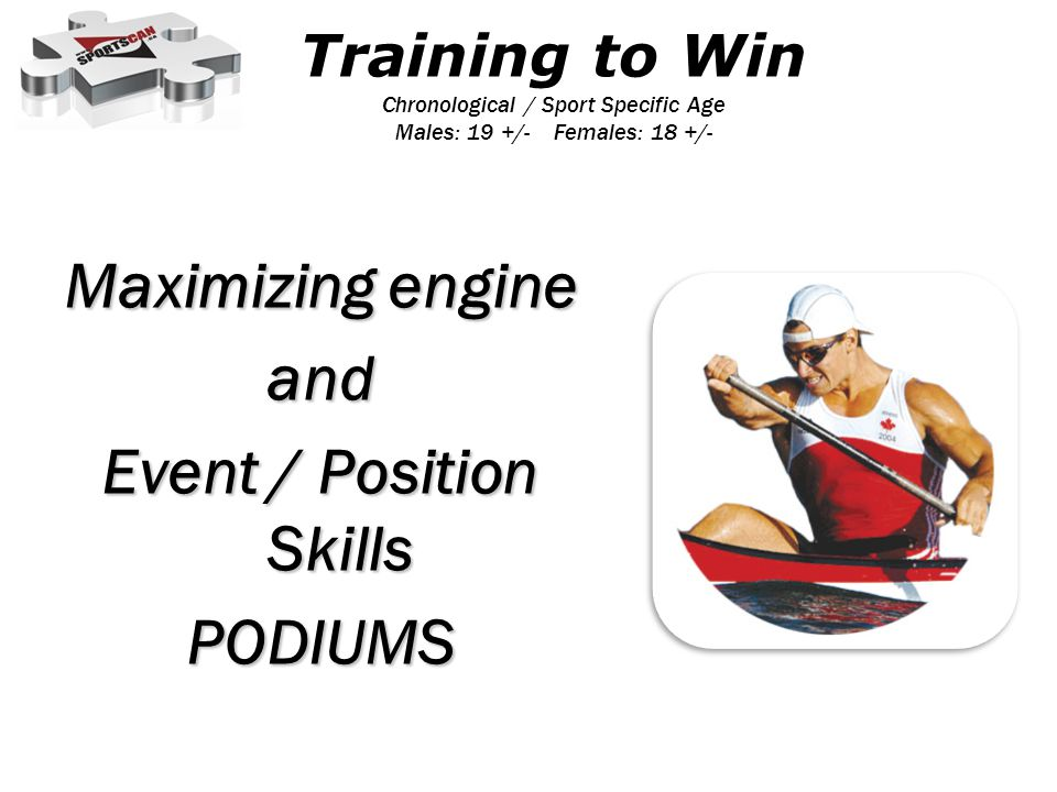 Maximizing engine and Event / Position Skills PODIUMS