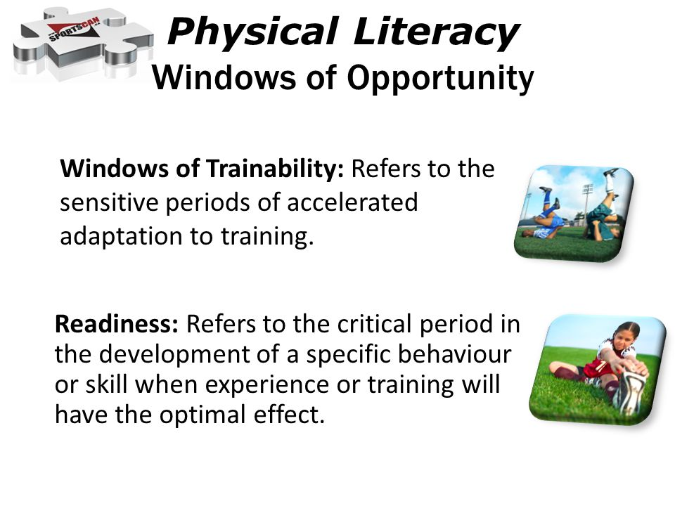 Physical Literacy Windows of Opportunity