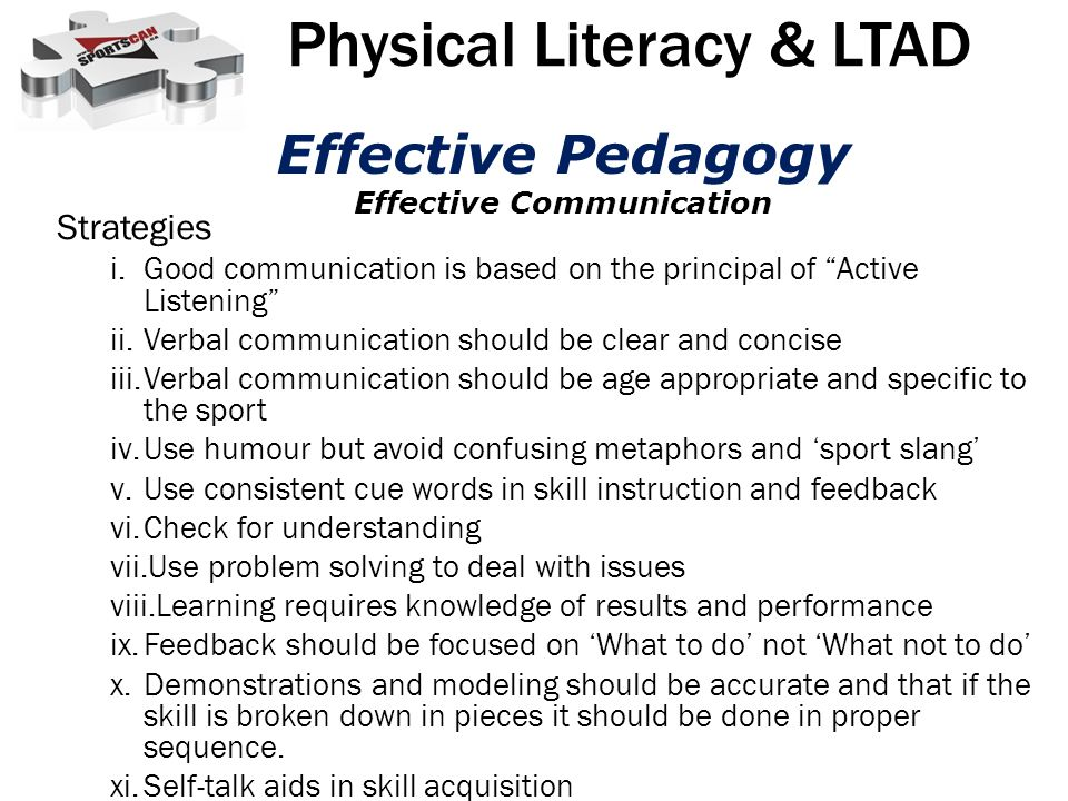 Physical Literacy & LTAD