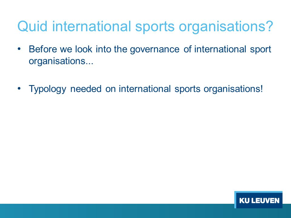 Quid international sports organisations