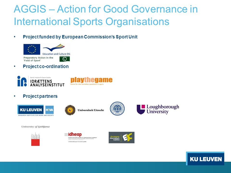 AGGIS – Action for Good Governance in International Sports Organisations