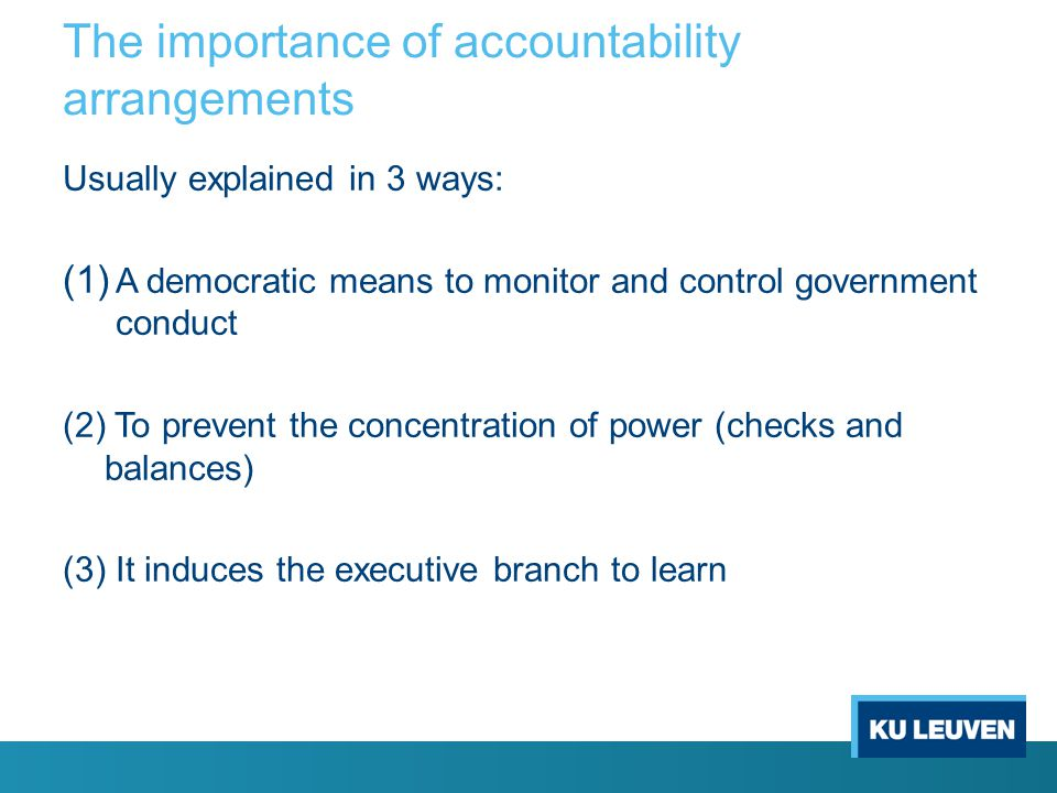 The importance of accountability arrangements