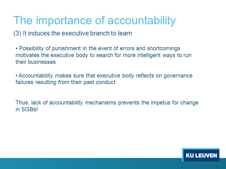 importance of accountability paper Importance of accountability in this paper the importance of accountability was elaborated thoroughly, each employee needs to be accountable for each and every.