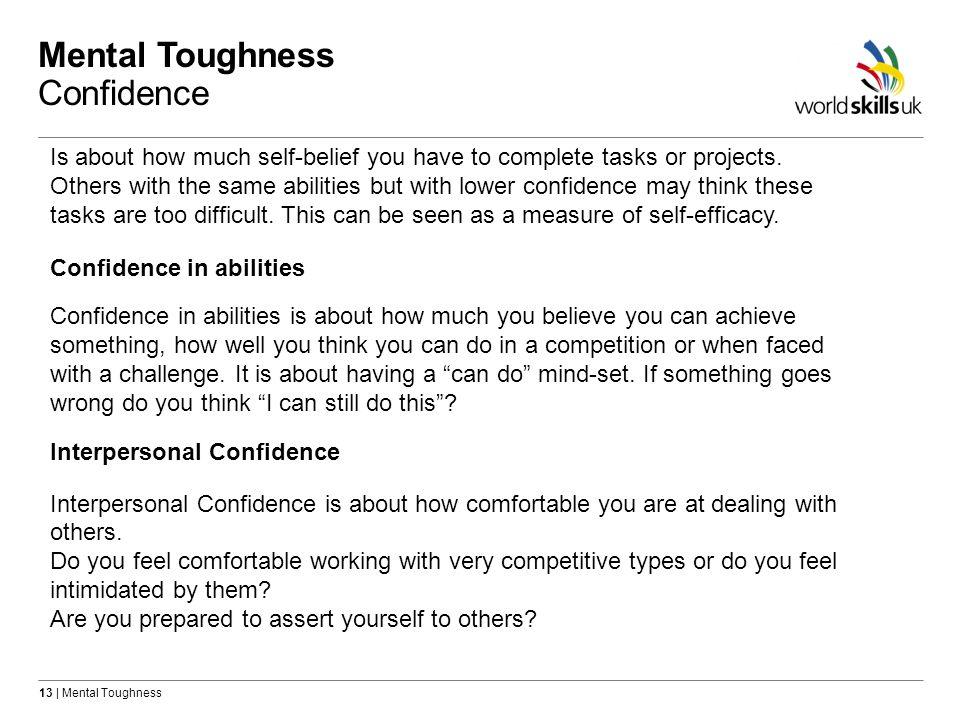 Mental Toughness Confidence