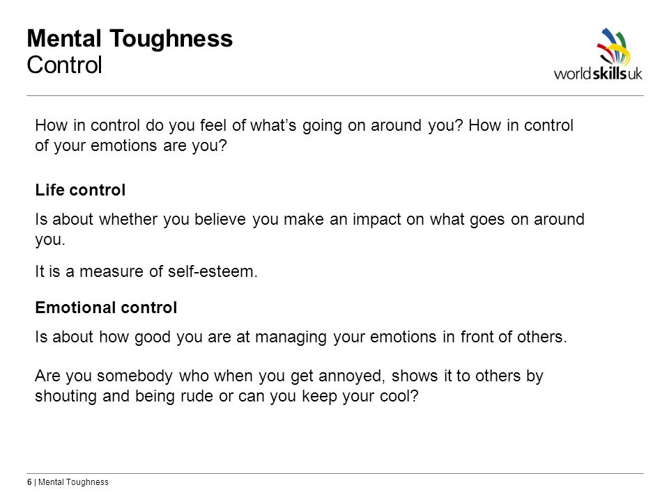 Mental Toughness Control