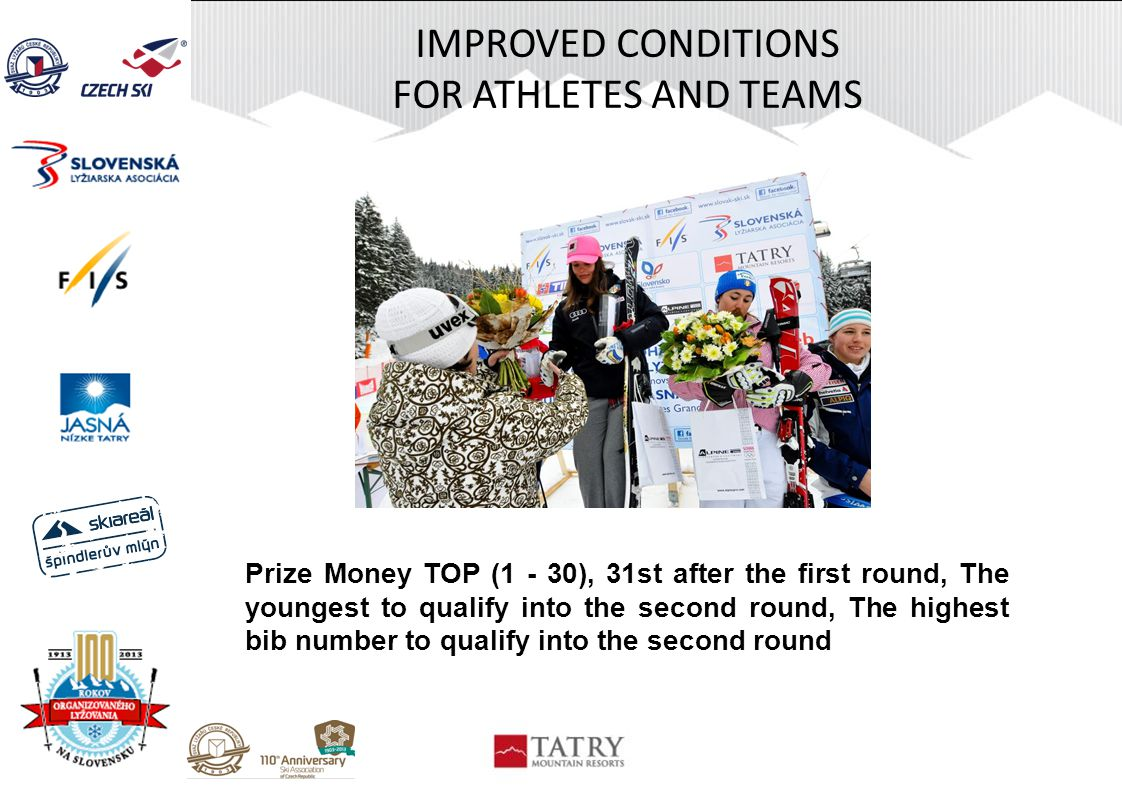 IMPROVED CONDITIONS FOR ATHLETES AND TEAMS