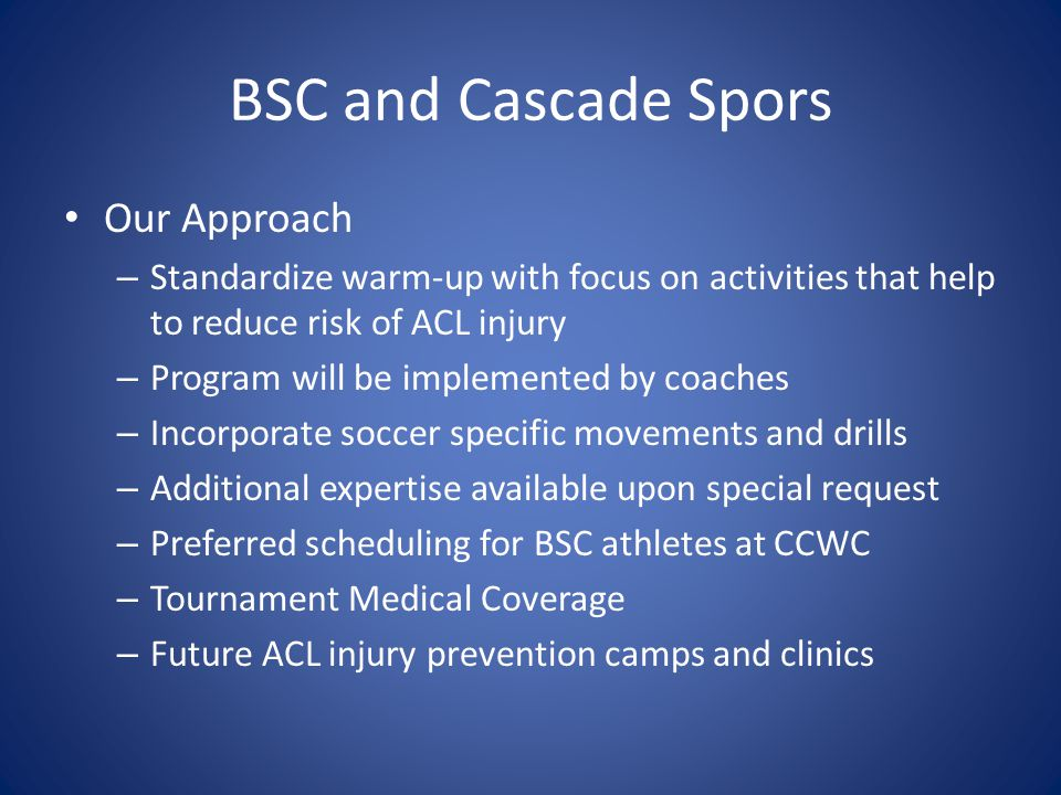 BSC and Cascade Spors Our Approach