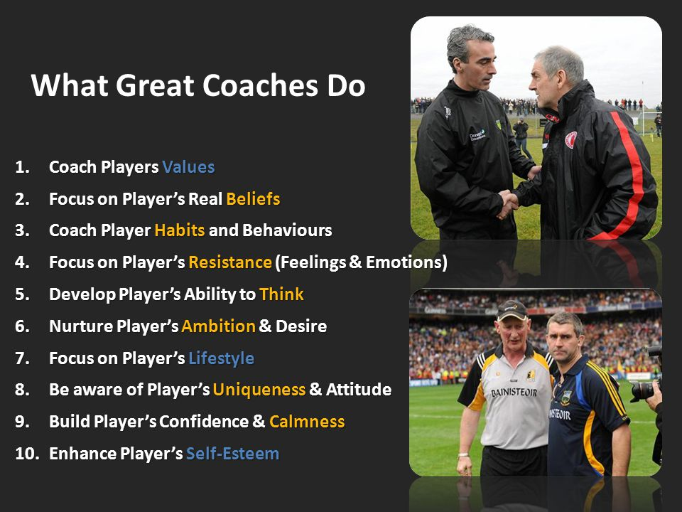What Great Coaches Do Coach Players Values