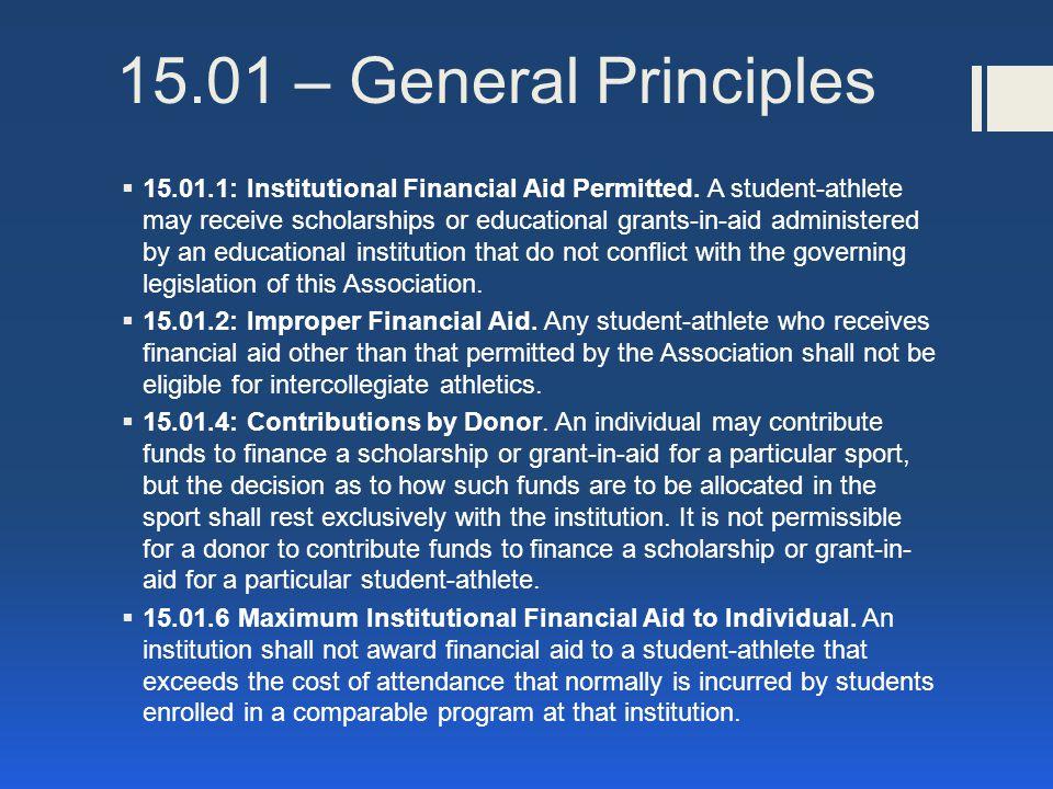 15.01 – General Principles