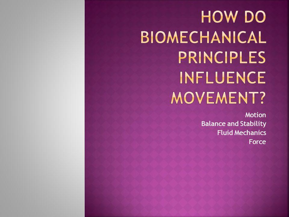 How do Biomechanical Principles Influence Movement