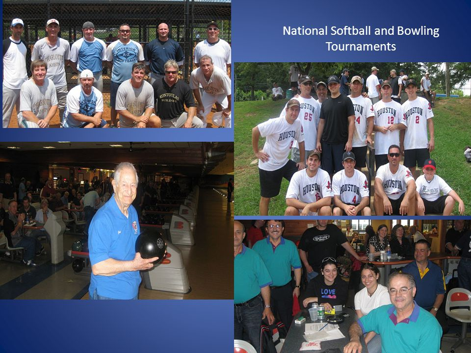 National Softball and Bowling Tournaments