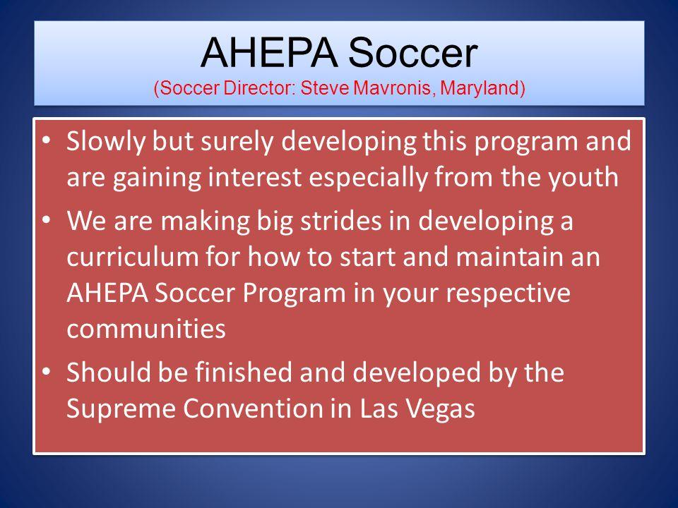 AHEPA Soccer (Soccer Director: Steve Mavronis, Maryland)