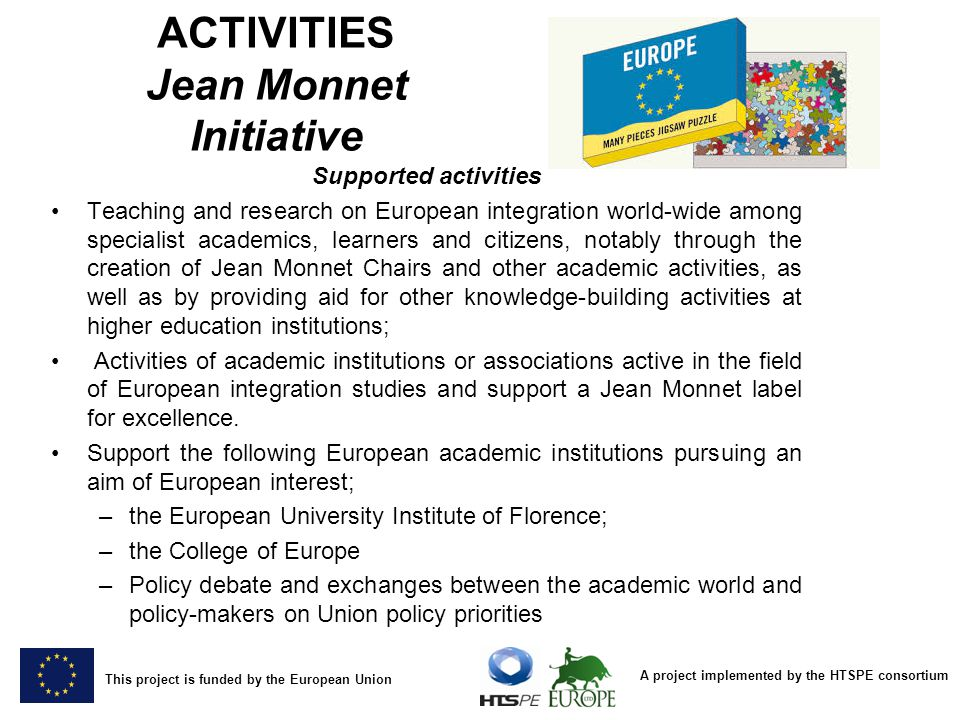 ACTIVITIES Jean Monnet Initiative