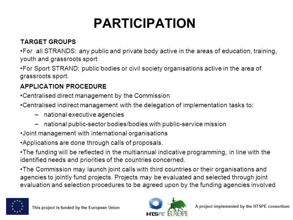 PARTICIPATION TARGET GROUPS