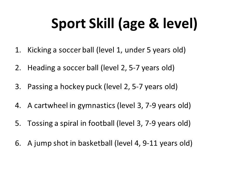 Sport Skill (age & level)