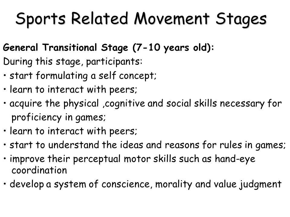 Sports Related Movement Stages