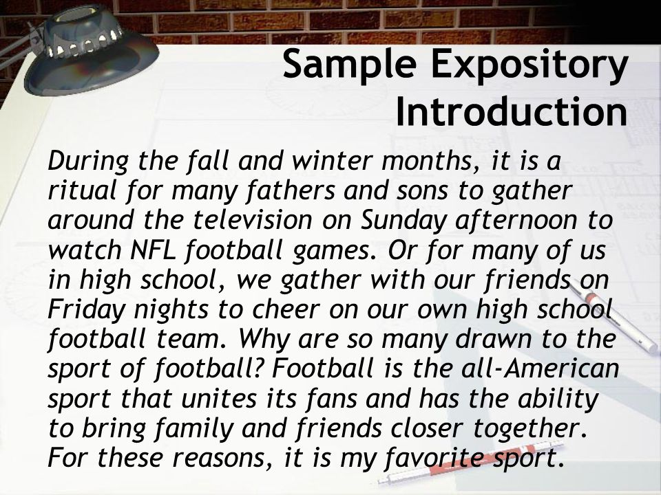 Sample Expository Introduction