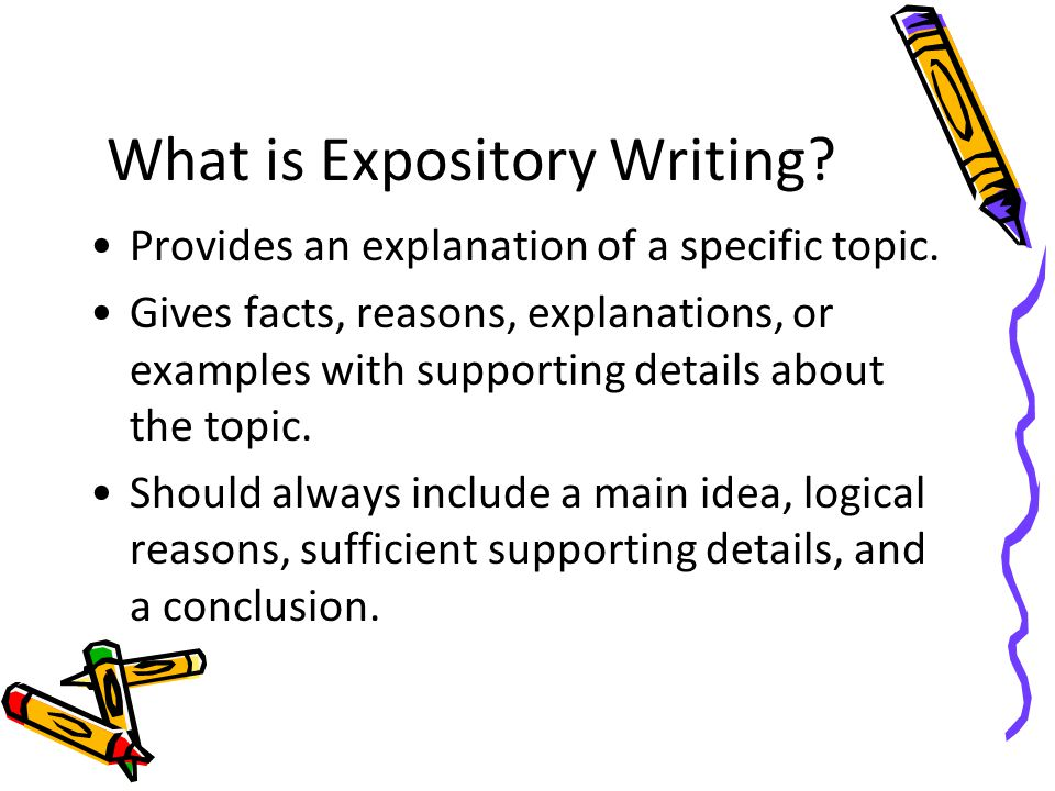 What is Expository Writing