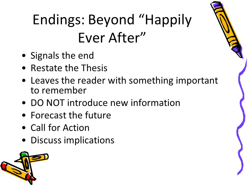 Endings: Beyond Happily Ever After