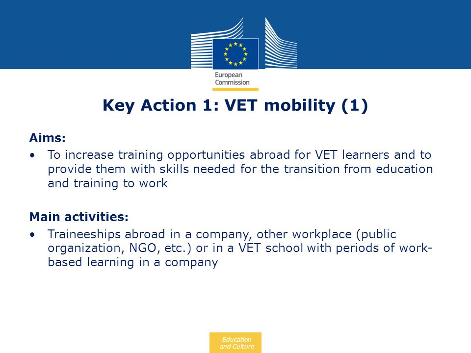 Key Action 1: VET mobility (1)