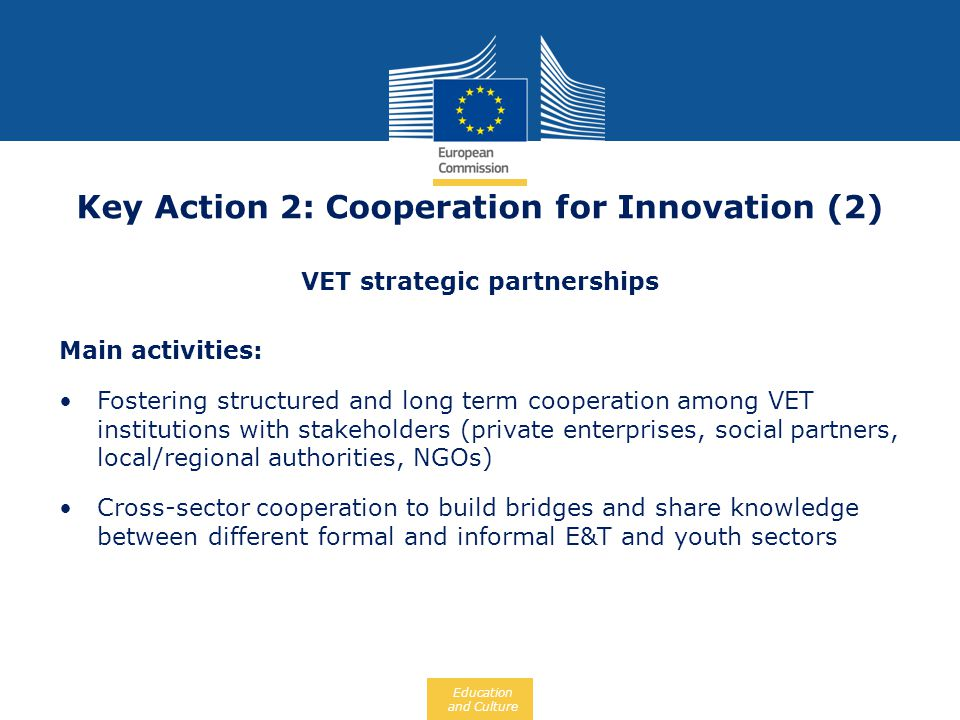 Key Action 2: Cooperation for Innovation (2)