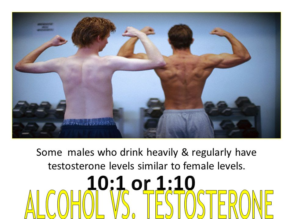 ALCOHOL VS. TESTOSTERONE