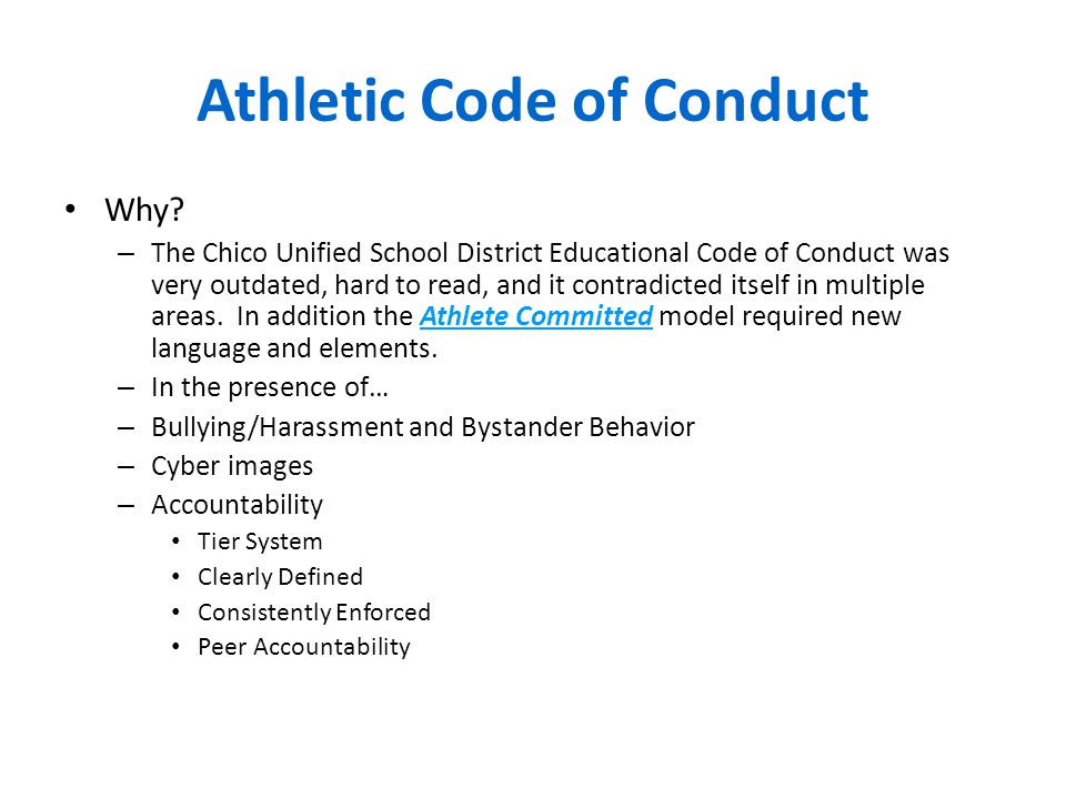 Athletic Code of Conduct