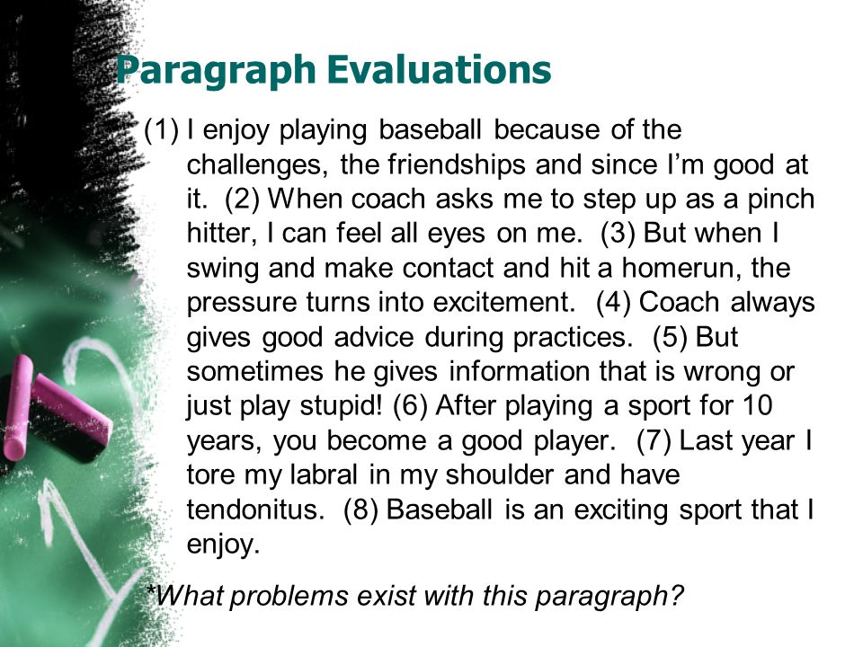 Paragraph Evaluations