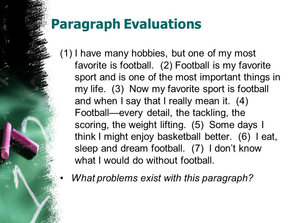paragraph essay about football