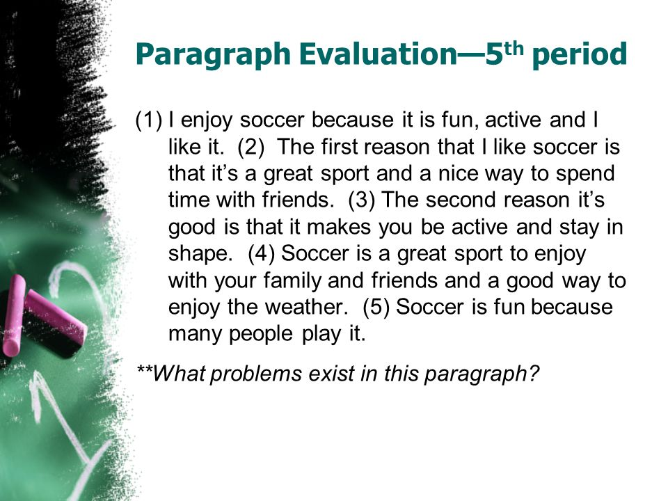 Paragraph Evaluation—5th period