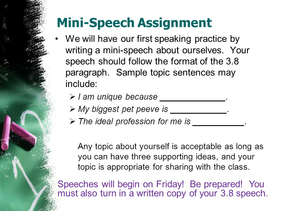 speak writing assignment Diversity and speaking out against prejudice and hate are not separate from other   after completing the writing assignment, have the class work together to.