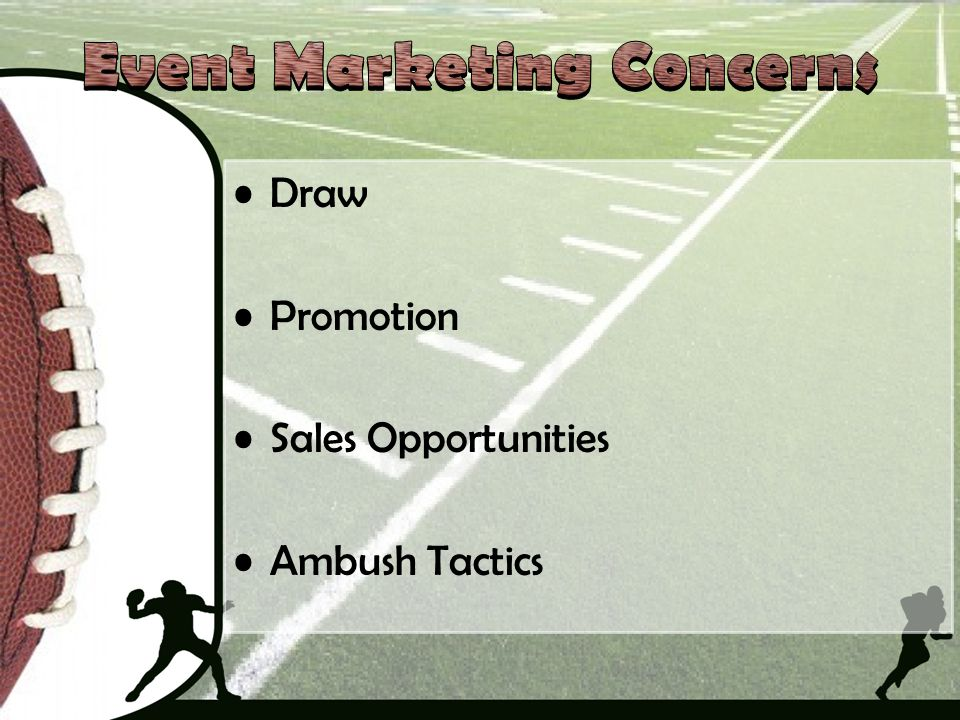 Event Marketing Concerns