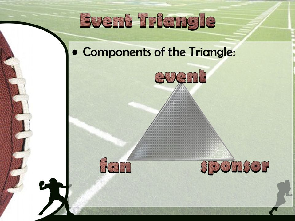 Event Triangle event fan sponsor