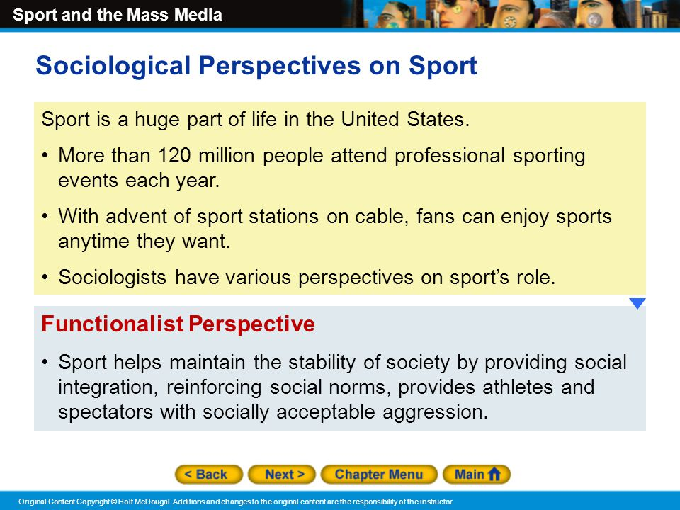 functionalist issues sport Functionalist essay functionalist essay the functionalist approach to social problems contemporary issues in sport.