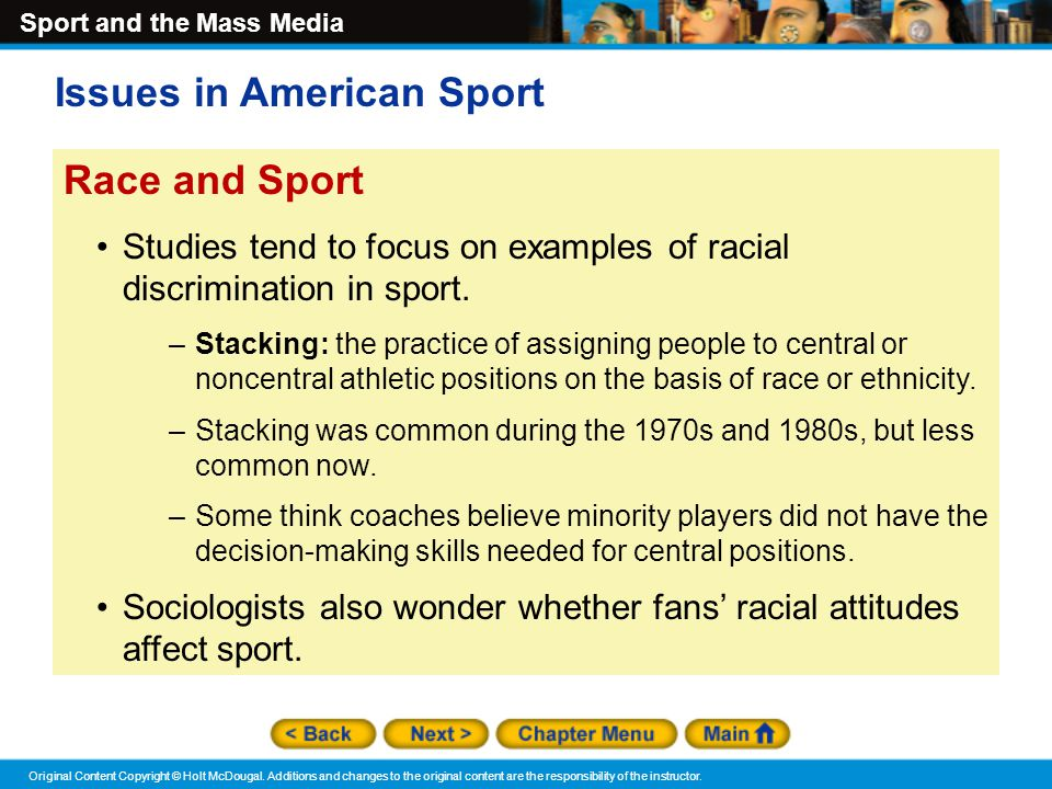 Issues in American Sport