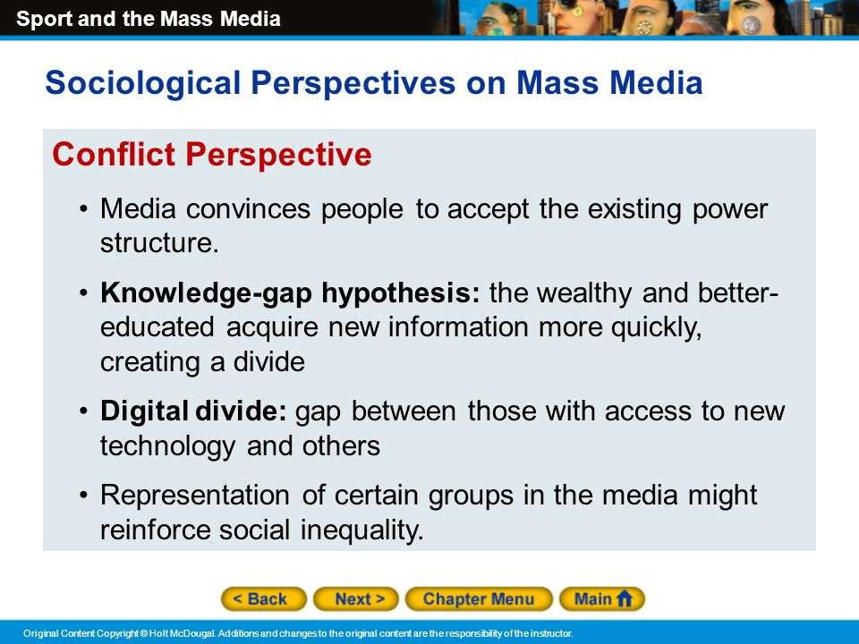 MEDIA AND THE SOCIAL CONSTRUCTION OF REALITY