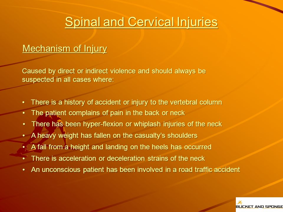 Spinal and Cervical Injuries