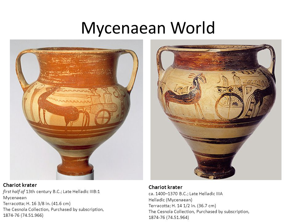 Mycenaean World Chariot krater Chariot krater