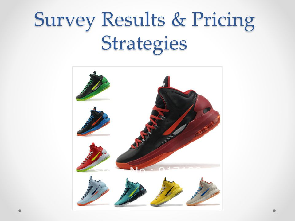 Survey Results & Pricing Strategies