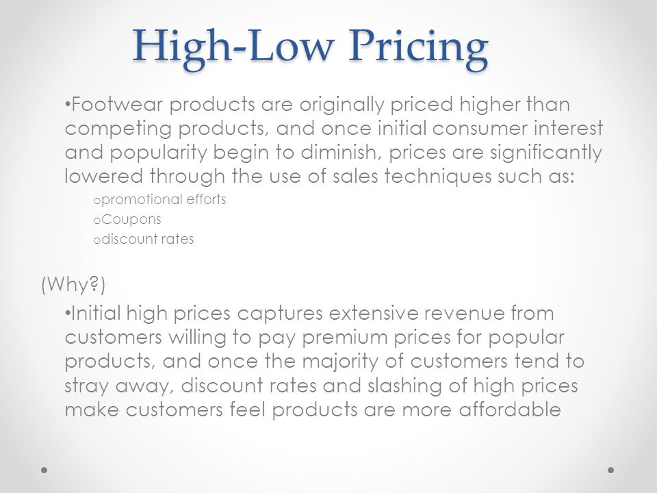 High-Low Pricing