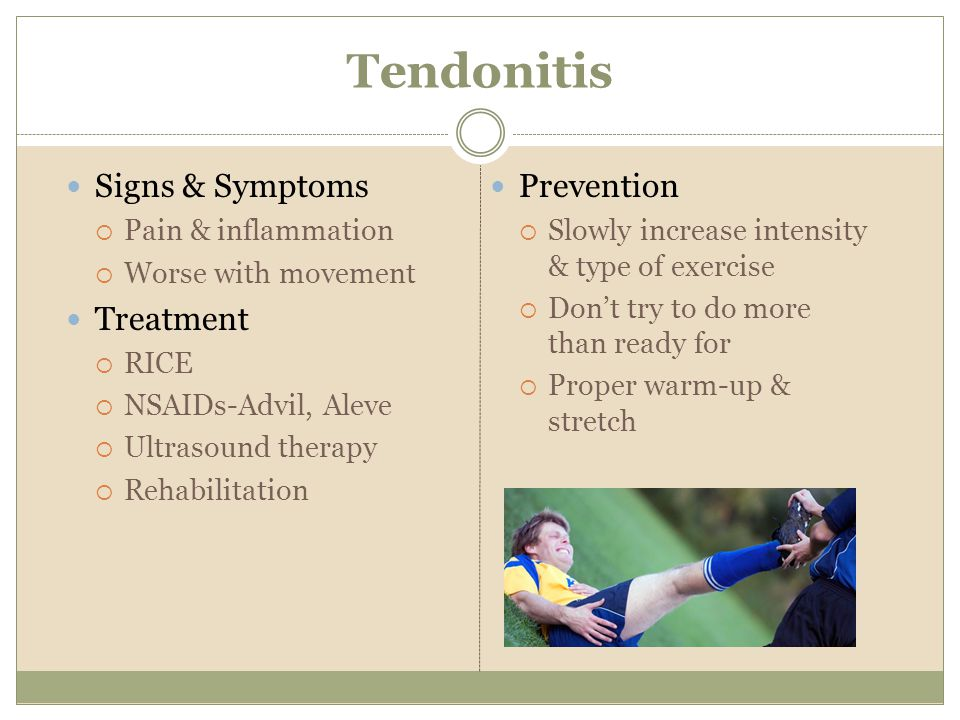 Tendonitis Signs & Symptoms Treatment Prevention Pain & inflammation