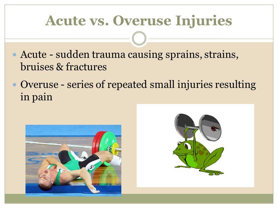 Acute vs. Overuse Injuries