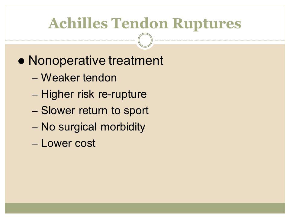 Achilles Tendon Ruptures
