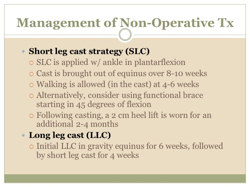 Management of Non-Operative Tx