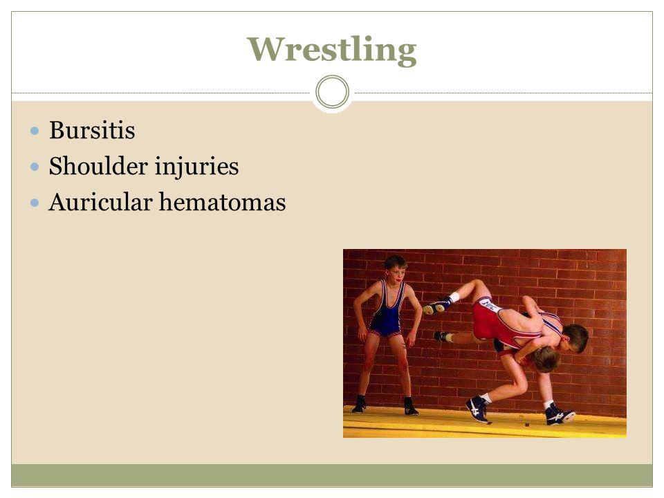 Wrestling Bursitis Shoulder injuries Auricular hematomas