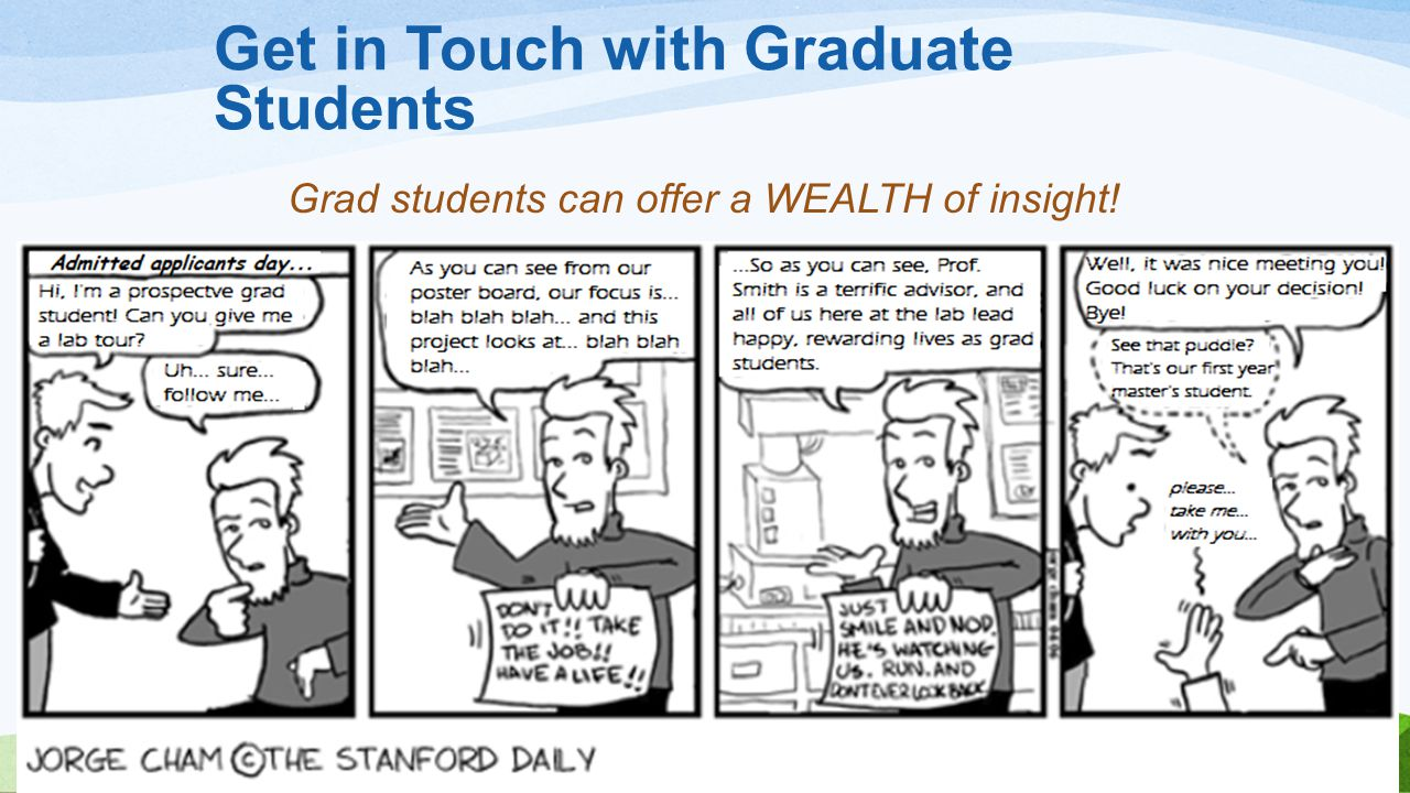 Grad students can offer a WEALTH of insight!