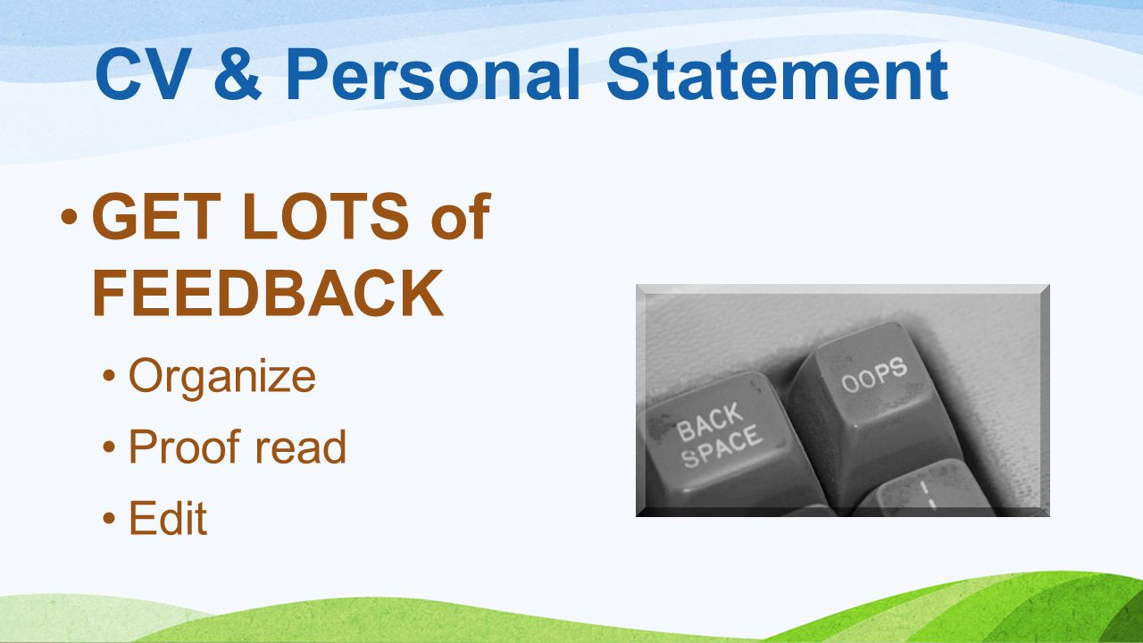 CV & Personal Statement